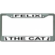 felix the cat #2 cartoon logo chrome license plate made in usa - $28.49