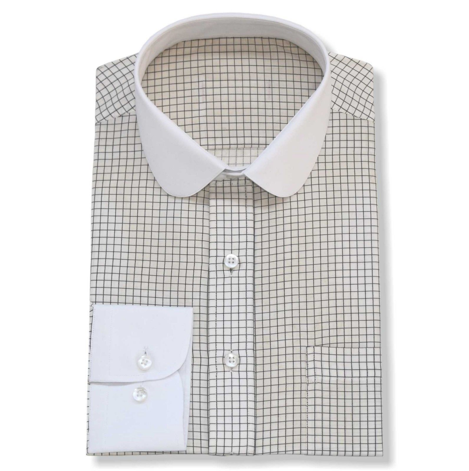 Peaky Blinders Penny Collar Mens Bankers shirts Orange White stripes Club Round