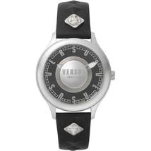 Brand New Versace Versus Tokai VSP410118 Black Leather Silver Women's Watch - $107.90