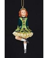 KURT S ADLER IRISH GIRL STEP DANCER IRISH DANCING GIRL w/PETTICOAT XMAS ORNAMENT - $11.88