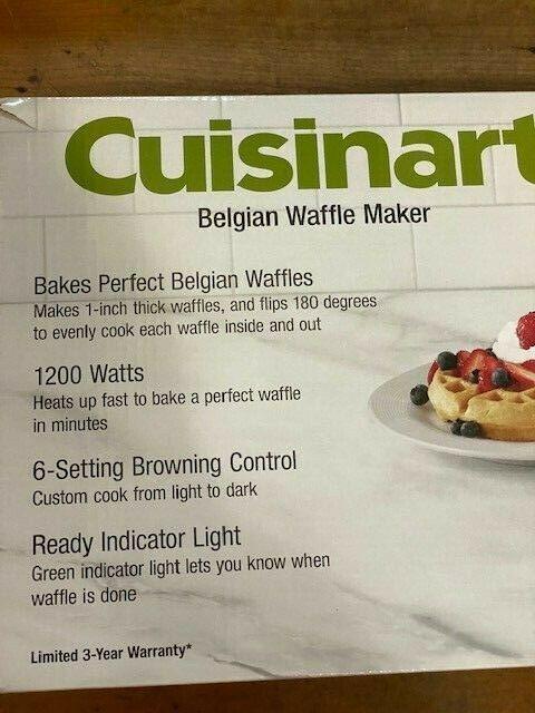 Cuisinart Di FWM-25PC2 Innovative Round Rotary Flip Home Belgian Waffle Maker,