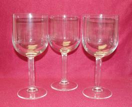 Set of Three (3) LUIGI BORMIOLI Crystal - LUB3 / COLUMN Pattern - WATER ... - $23.95