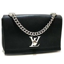 AUTHENTIC LOUIS VUITTON Lock Me II BB Hand Bag Noir Taurillon Clemence M... - $2,243.99 CAD
