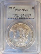 1885 O Silver Morgan Dollar PCGS MS 63 McClaren Hoard Collection Pedigre... - $119.99