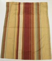 1 Pottery Barn Standard Serape Pillow Sham Duncan Stripe Linen Tan Burgundy - $11.29