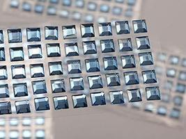 KraftGenius Allstarco 6mm Blue LQ05 Square Self Adhesive Acrylic Rhinestones Pla - $9.79