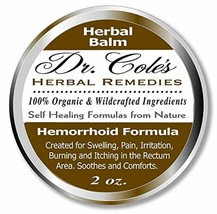 Dr. Cole's Hemorrhoid Treatment. Organic Herbal Ointment for Hemorrhoid ... - $40.47