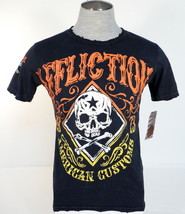 Men's Affliction Skull Graphics American Customs Vintage Destroyed Tee T... - $41.24