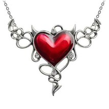 Alchemy Gothic ULFP25 Devil Heart GŽnŽreux  Necklace Pendant - $69.27