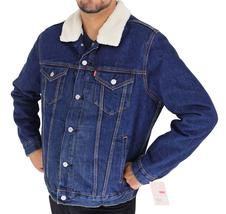 Levi's Men's Premium Button Up Denim Fleece Lined Jeans Jacket 72336001 size L image 3