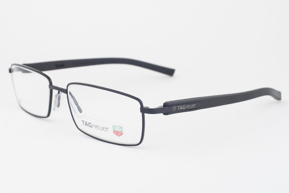 Primary image for Tag Heuer 8005-001 Black Eyeglasses 8005 57mm