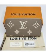 Louis VUITTON AUTHENTIC LARGE ZIPPY WALLET Bicolor Monogram Empreinte Le... - $2,250.00