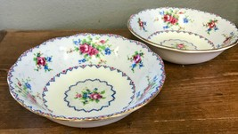 Royal Albert Petit Point Dessert Fruit Sauce Bowls Needlepoint Floral En... - $18.69