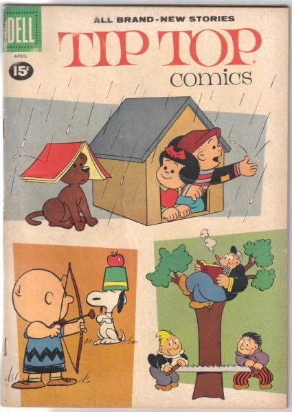Tip Top Comics Comic Book #224, Dell 1961 Peanuts Story FINE