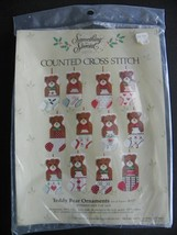 Something Special Counted Cross Stitch Teddy Bear Ornaments - $6.43