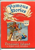FAMOUS STORIES #1-1942-TREASURE ISLAND- STEVENSON-SOUTHERN STATES-fn+ - $181.88