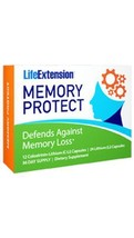 3 PACK Life Extension Memory Protect 72 day supply cognitive brain health - $39.00