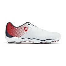 NEW! FootJoy [10] Medium DNA Helix Men's Golf Shoes 53317, White/Red/Blue - $227.69