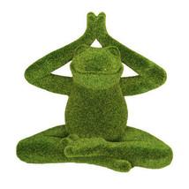 Pacific Giftware PT Meditation Pose Lotus Yoga Frog Artificial Turf Synt... - £15.88 GBP