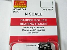 Micro-Trains Stock #00302044 Barber Roller Bearing Trucks Long Extension Coupler image 2