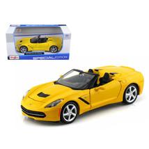 2014 Chevrolet Corvette C7 Convertible Yellow 1/24 Diecast Model Car by ... - $28.33