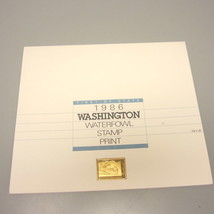 1986 Washington First of State Signed Duck Print w/Stamp & Gold Medallion - $59.00