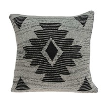 Parkland Collection Shosa Southwest Grey Pillow Cover With Poly Insert - $45.81