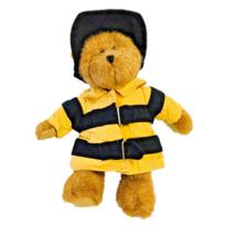 Boyds Bear Plush Teddy Bear Fireman Yellow Jacket Hat Children Soft Stuf... - $7.82