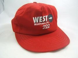 West 222 Manitowoc Inc Hat Red Snapback Baseball Cap Made USA - $15.21