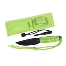 Rothco Neon Green Paracord Knife with Fire Starter - $15.99