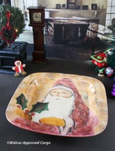 MARCO & CRISTINA OLD WORLD SANTA SERVING DISH -NWT- A RARE FIND, MADE IN... - $54.95