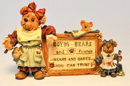 Boyds Bears & Friends: Tessa, Ben & Cissie ...A Sign Of The Times - 2299 - $15.34