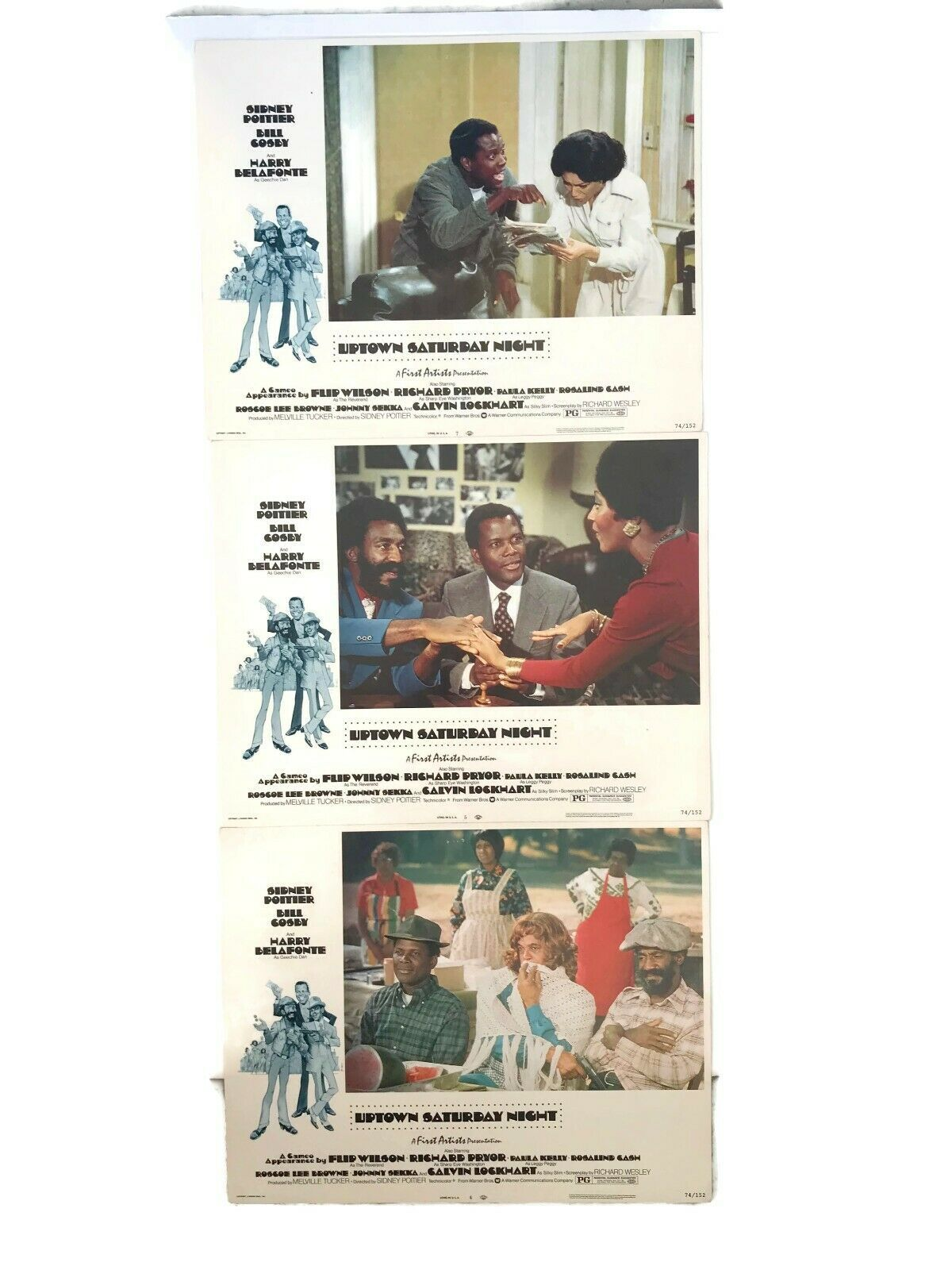 Primary image for Uptown Saturday Night Lobby Cards Movie Set of 3