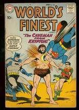 WORLDS FINEST #102 1959-SUPERMAN-BATMAN-TOMMY TOMORROW VG - $44.14
