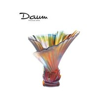 Daum Small Palm Tree Vase By Emilio Robba 03456 France Crystal New Numbered Edit - $2,804.85