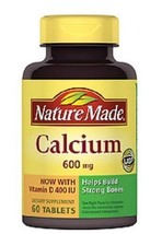 Nature Made Calcium with Vitamin D 600mg Tablets - $9.89