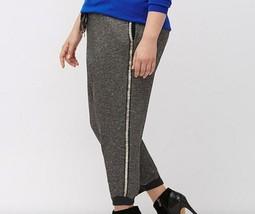 Lane Bryant Embellished Jogger size 18/20 Women's Plus Gray Shimmer Cropped 2x - $39.95