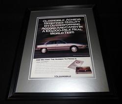 1992 Oldsmobile Achieva Framed 11x14 ORIGINAL Vintage Advertisement - $34.64