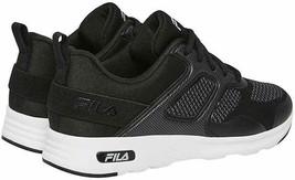Brand New Women's Fila Black White Memory Foam Frame V6 Athletic Running Shoes image 2