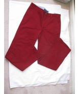 Tommy Hilfiger Deep Red Boys Jeans 100% Cotton Size 20 NWT - $29.69