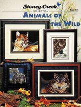 Cross Stitch Wild Animals Cougar Geese Wolf Bear Elephant Kangaroo Pattern - $13.99