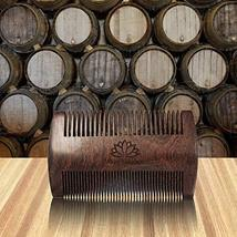Limited Time Sale! Beard Comb for Men, Wooden Natural Sandalwood,Fine Dual Actio image 4