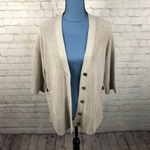 Gap Women's Heavy Knit Grandpa Cardigan Sweater Oatmeal Beige Size M/L 224961 - $24.02