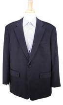 Very Recent! Custom Solid Black Vincua-Cashmere 2-Btn Flannel Sportcoat 48R - $665.00