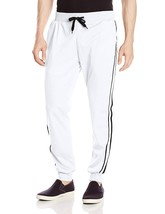Southpole Men's Jogger Pants Active Basic Tricot Track Fabric, White, X-... - $17.96