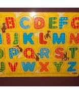 Puzzle Alphabet Curious George Wooden Tray Age 3+ - $9.67