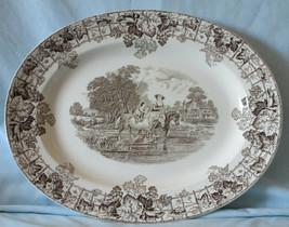 Spode Byron Oval Platter Medium HTF Black, Lady on Horse - $79.09