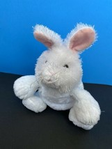 "Ganz Webkinz Bunny 8"" Plush White Rabbit Pink Ears Stuffed Animal No Code - $7.91"