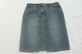 """Ann Taylor Loft Women Jean Skirt Size 6 Blue Denim STRETCH Skirt 30"""" WAIST  - $14.85"""