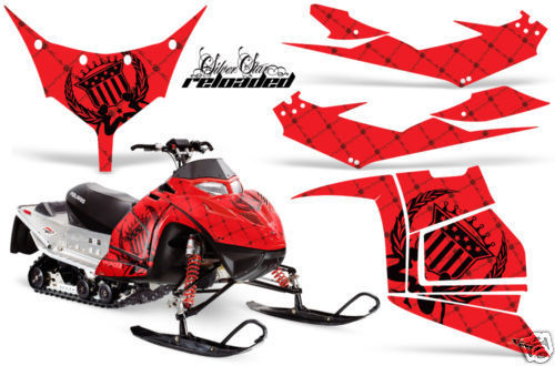 Snowmobile Graphics Kit Decal Sticker Wrap For Polaris Race IQ 600 RELOADED  K R